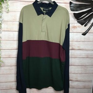 PacSun multicolored polo collar long sleeves teeXL